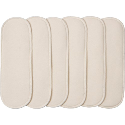 Gerber All-in-One Reusable Diaper Cover Inserts, White, 6 Count