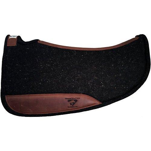 Diamond Cut Barrel - Diamond Wool Contoured Tough Barrel Saddle Pad