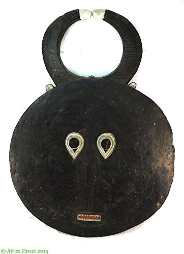 Round Horned Mask 3 Ft African Art ()