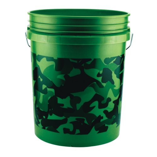 Pail,5-Gal Camouflage Plastic