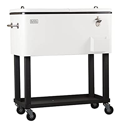 BLACK+DECKER BCC20W Mobile Cooler Cart with Wheels