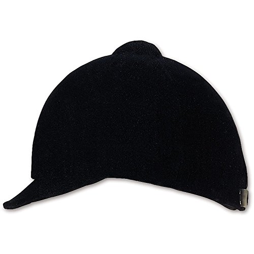 - Dura-Tech Soft Velvet Riding Hunt Cap, Classic English Equestrian Style (Black) (7 1/4)
