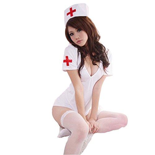 [OLUOLIN Women Uniform Sexy Lingerie with Cap-nurse] (Joker 2016 Costume)