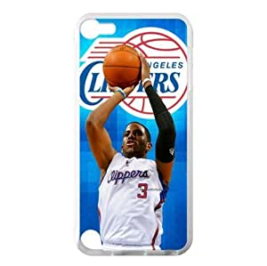 iTouch 5 TPU Case with Los Angeles Clippers Team Logo (Laser Technology)-by Allthingsbasketball