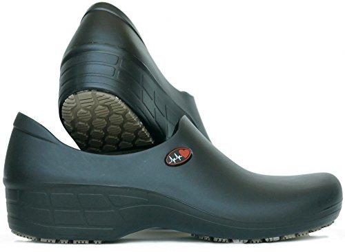 Women's Printed Waterproof Non Slip Work Shoes - Nursing Shoes - KEEPNURSING (9, Black - Electro Heart)