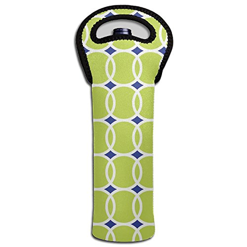 Red Wine Tote Bag Tennis Ball Geometric Single Fashion Champagne Bottle Carrier Holder -