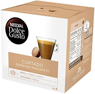 Nescafé Dolce Gusto Café Cortado Espresso Macchiato, Pack de 3 x ...