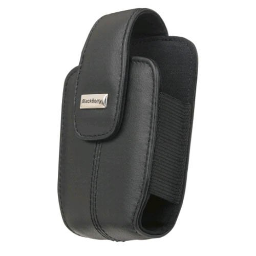 BlackBerry OEM Curve 8300, 8310, 8320, 8330 Lambskin Leather Holster with Swivel Belt Clip – Black