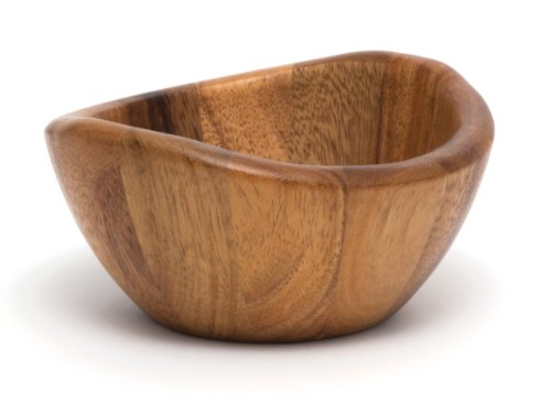 Lipper International 1173 Acacia Wave Serving Bowl for Fruits or Salads, Small, 6