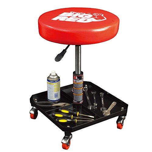 (Torin Big Red Rolling Pneumatic Creeper Garage/Shop Seat: Padded Adjustable Mechanic Stool,)