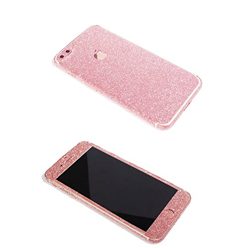 iPhone 7 Plus Bling Skin Sticker, Supstar Full Body Coverage Glitter Vinyl Decal - Dustproof, Anti-Scratch for Apple iPhone 7 Plus (Light Pink)