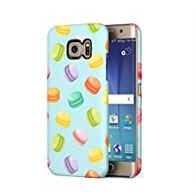 French Rainbow Macarons Pattern Samsung Galaxy S6 Edge Plastic Phone Protective Case Cover