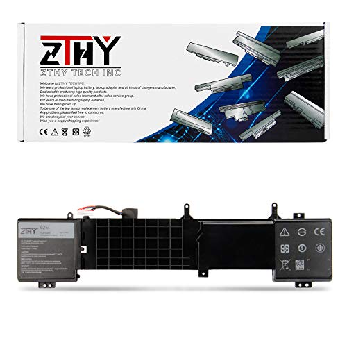 ZTHY 6JHDV Laptop Battery for Dell Alienware 17 R2 R3 5046J P43F ALW17ED-1728 ALW17ED-1828T ALW17ED-2728 AW17R3-7092SLV AW17R3-8342SLV 6JHCY 14.8V 92Wh 8-Cell