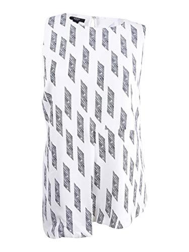 Alfani Plus Size Asymmetrical Draped Top in White Angle ()