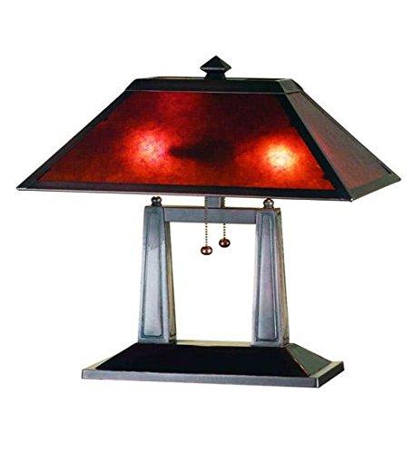 Meyda Tiffany 24216 Van Erp Mica Oblong Table Lamp, 20u0026quot; Height, ...