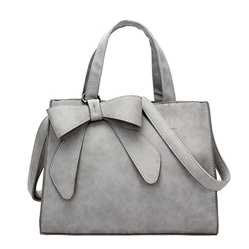 Meaeo Bolso Messenger De Un Solo Hombro Nuevo Fashion Bow Scrub Simple