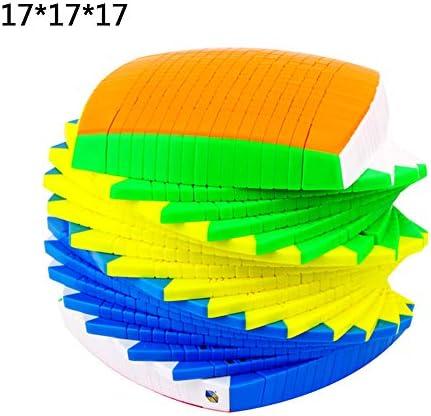 17X17x17 Cube Puzzles Jouet pour Les Enfants Stickerless Cube Professionnel Speed Magic Cube Jouets Éducatifs 17Th-Ordre Professionnel D'ordre Élevé Cube