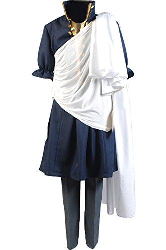 Cosplaysky Fairy Tail Costume Zeref Cosplay Halloween Coat -
