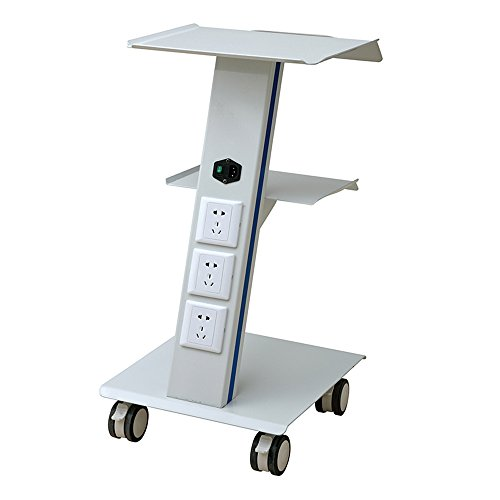 - Medical Mobile Utility Cart Trolley with Steel Frame Doctor Dentist Trolly Tattoo Spa Salon Equipment All Purpose