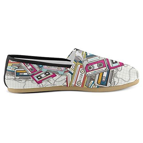 Mocassini Da Donna Di Interestprint Classico Su Tela Casual Slip On Fashion Shoes Sneakers Flat Multi 22