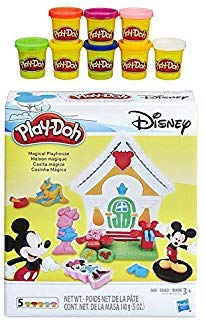 - Play-Doh Disney Mickey Mouse Magical Playhouse + Play-Doh Rainbow Starter Pack Bundle