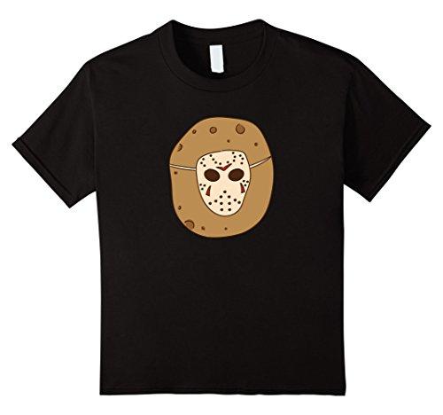 Kids Friday 13th Jason T-shirt Halloween Meme Potatoes Voorhees 12 Black ()