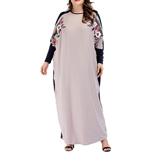 Stile Zhuhaitf Lungo Grigio amp;blu Per Abaya Boho Caftani Donne Moda Islamico Abbigliamento Turco Elegante Oversized Caftano gg6Erqx4w1