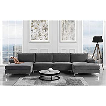 Amazon.com: Edloe Finch Modern Sectional Sofa Right Facing ...