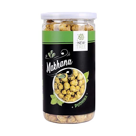 New Tree Jumbo Makhana Salt & Pepper and Pudina (Total Weight 150gms)