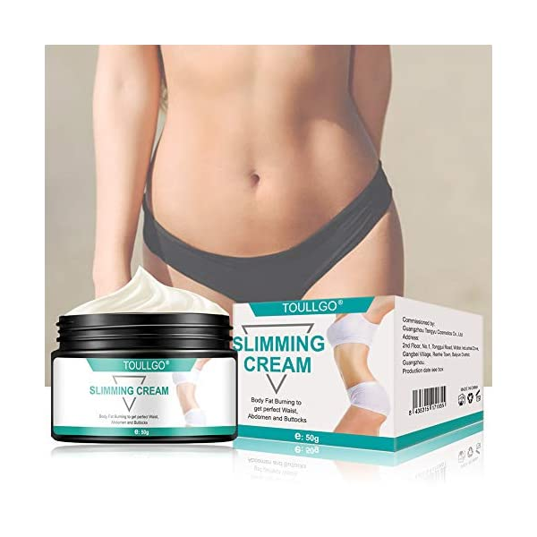 Slimming Cream, Hot Cream, Fat Burning Cream, Best Weight Loss Cream, Slimming Tightening Cream for Shaping Waist, Abdomen and Buttocks, 50g 41gkXJUtuZL