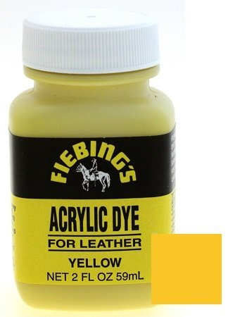 - Fiebings Acrylic Dye For Smooth Leather Water Resistant Quick Dry Yellow