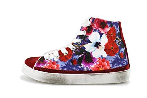 2 Star Sneakers Mädchen Rot Wildleder Textile AG546 (32 EU)