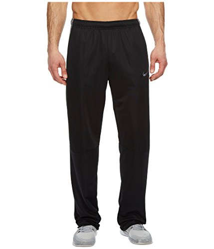 Nike Men's Epic Knit Open Hem Pant (Large, Black/Dark Grey/Black/Dark Grey) (Mens Clothes Nike Gym)