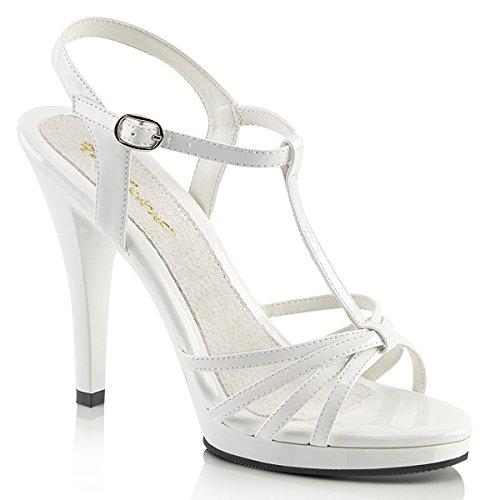 Fabulicious FLAIR-420 Damen Sandalette, Lack Weiß, EU 36 (US 6)