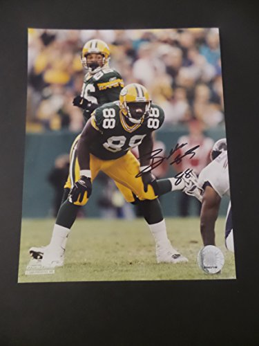 Bubba Franks Signed Green Bay Packers Autographed 8x10 (Green Autographed Photo)