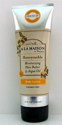 A La Maison de Provence Honeysuckle Moisturizing Shea Butter & Argan Oil Body Lotion 8 Oz.