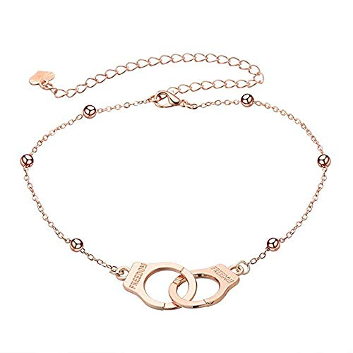 kiming Handcuff Partners in Crime BFF Best Friends Forever Anklet Bracelet for Girls Foot Jewelry Beach