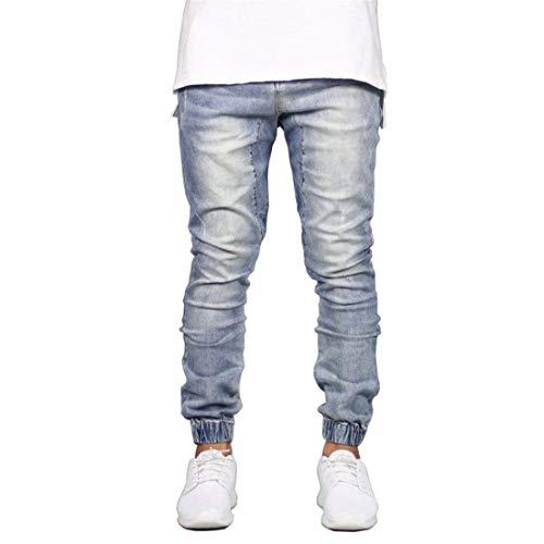 Uomo Elasticizzati Vestibilità Con Polsini Pantalone Jeans Mieuid Pantaloni Elasticizzato Slim Chic E Fit Hellblau HdRnqwg