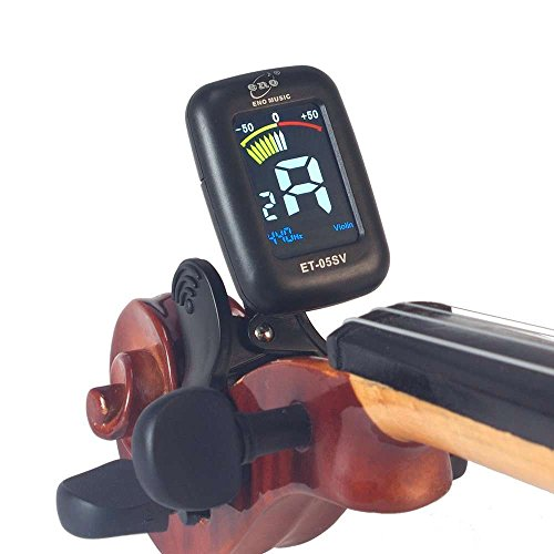 ENO ET-05SV Mini Clamp Clip-on VIOLIN Viola Tuner Colorful LCD Display Special Big Head Stock Clip