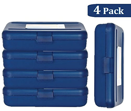 1InTheOffice Pencil Box, Translucent Blue (4 -