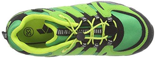 Lico Fremont - zapatillas de trekking y senderismo de material sintético niños verde - Grün (grün/schwarz/gelb)