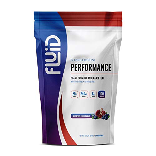 Hydration Fluid - Fluid Performance - Low Sugar Endurance Fuel Sports Drink Mix with Electrolytes, All Natural Ingredients, Gluten-Free for Before or During Exercise