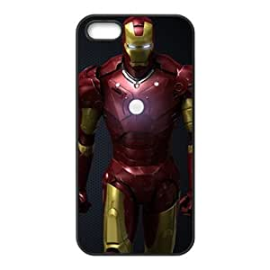 De pl¨¢stico duro caso para Iphone 5 5s cubierta de la impresi¨®n Iron ManE-4218