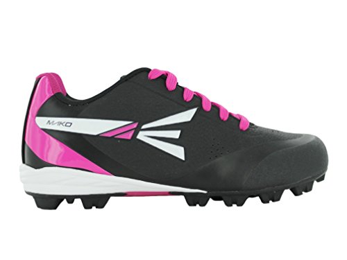 Easton Mako Wos Women's Rubber Low Softball Cleats – Black/Pink – DiZiSports Store