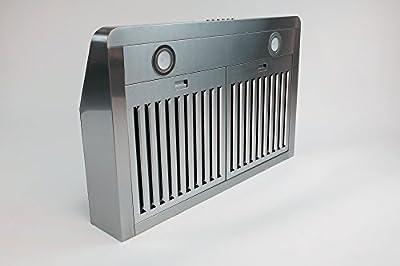 "30"" Stainless Steel Baffle Filter Under-cabinet Range Hood Slim Design"