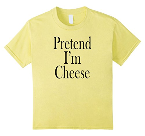 Quick Last Minute Halloween Costumes For Kids - Kids Cheese Costume T-Shirt for the Last Minute Party 4 Lemon