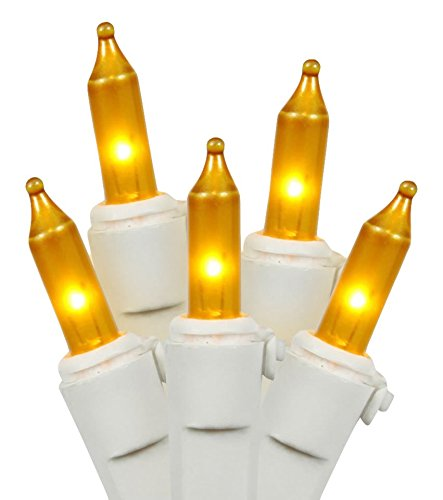 Vickerman Mini Light Set Features 100 Bulbs Lights on White Wire and 4