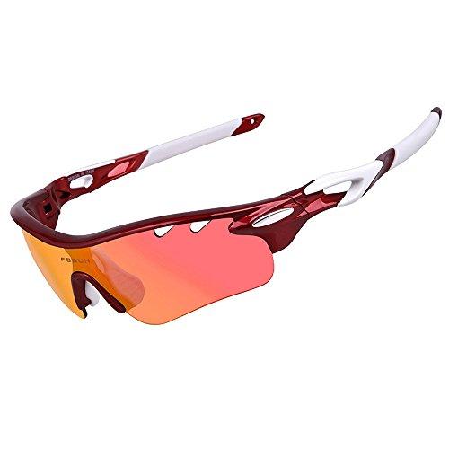 Homme Sunglasses de de Lunettes Vent Plein en pour Riding Polarized Bleu air Couleur Red Anti LBY Lunettes Coupe Lunettes et Soleil Sport buée Hwx88z