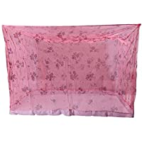 Shahji Creation Cotton Printed King Size Bed Multi Color 6X7 Feet Mosquito Net