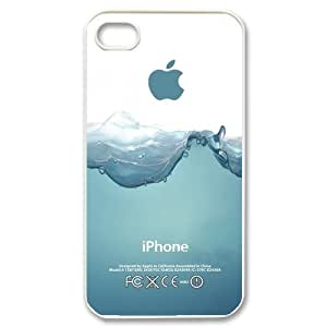 Custom Your Own Personalised Hard Watersplash iPhone 4/4S Cover , Snap On Watersplash iPhone 4/4S Case